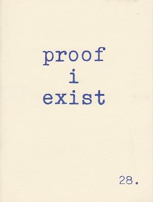 Image result for proof i exist zine billy